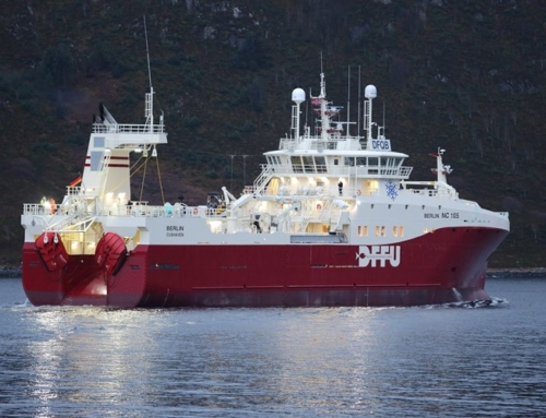 Second trawler with Hedinn Protein Plant onboard sets to sea from Cuxhaven